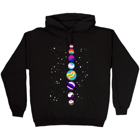 LGBTQ+ Planets Hooded Sweatshirt
