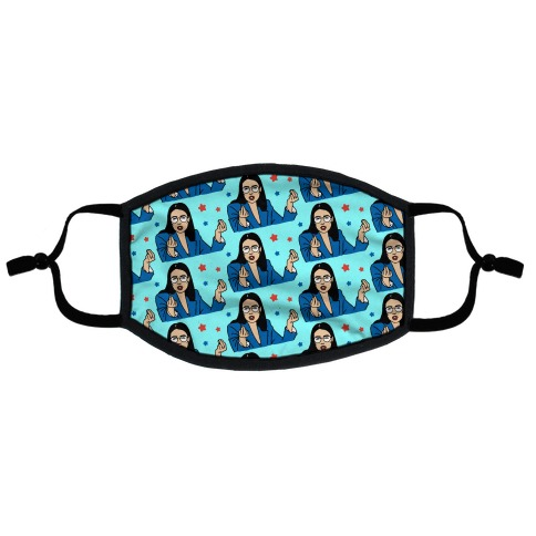 Fresh AOC Meme Pattern Flat Face Mask