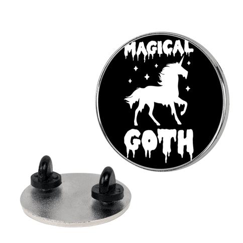 Magical Goth Unicorn pin
