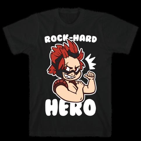 Rock-Hard Hero - Kirishima  Mens T-Shirt