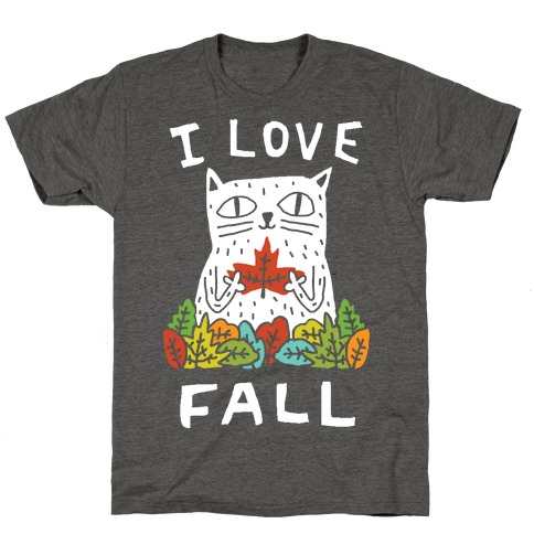 I Love Fall Cat T-Shirt