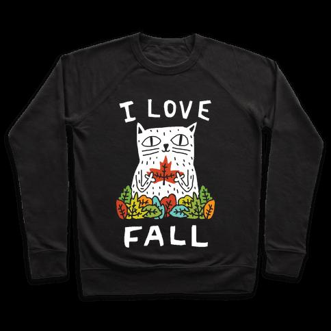 I Love Fall Cat Pullover