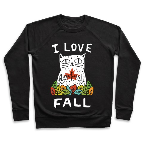 I Love Fall Cat Pullover