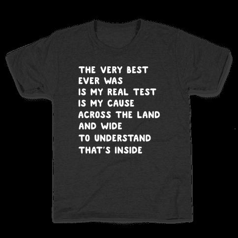 The Very Best - Pokemon Lyrics (1 of 2 pair) Kids T-Shirt
