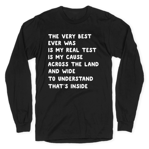The Very Best - Pokemon Lyrics (1 of 2 pair) Long Sleeve T-Shirt