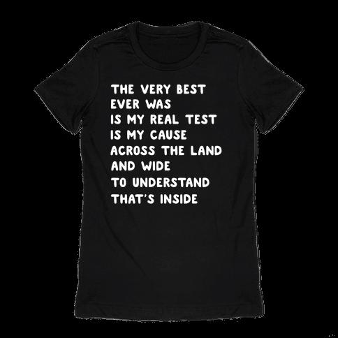 The Very Best - Pokemon Lyrics (1 of 2 pair) Womens T-Shirt