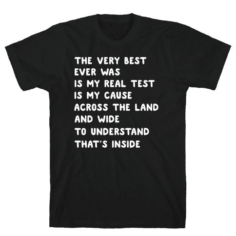 The Very Best - Pokemon Lyrics (1 of 2 pair) Mens/Unisex T-Shirt