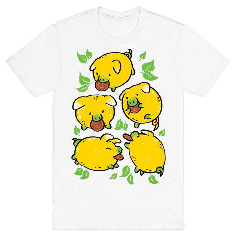 Lemon Pigs Mens/Unisex T-Shirt