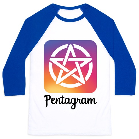 Pentagram Instagram Parody Baseball Tee