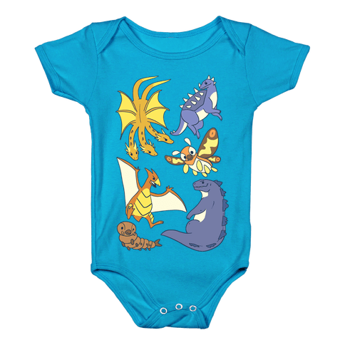 Godzilla and Friends Baby Onesy