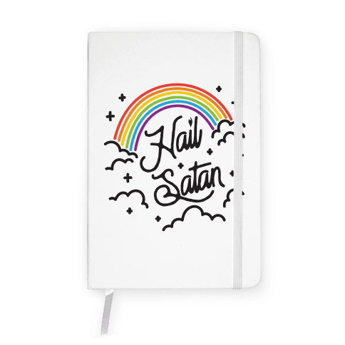 Hail Satan Rainbow Notebook