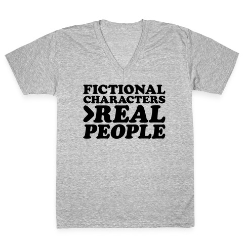 Fictional Characters > Real People V-Neck Tee Shirt