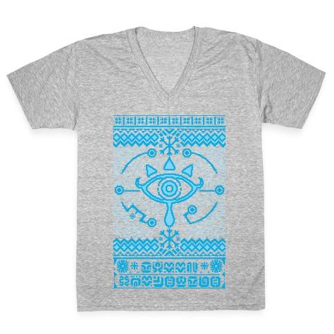 Gamer Ancient Technology Sweater V-Neck Tee Shirt