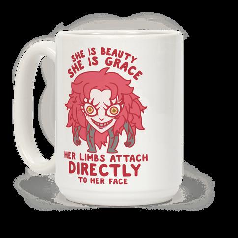 She Is Beauty She Is Grace Psycho Jenny Coffee Mug