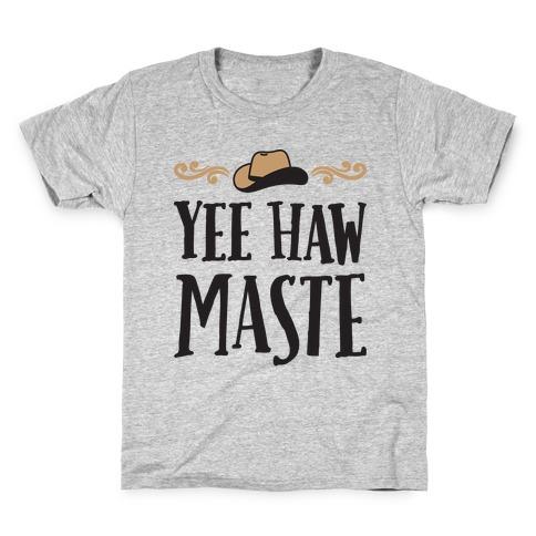 Yee Hawmaste Namaste Kids T-Shirt