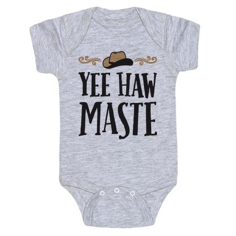 Yee Hawmaste Namaste Baby Onesy