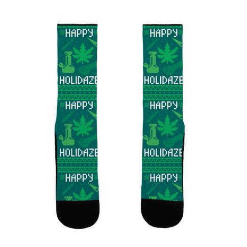 Happy Holidaze Sock