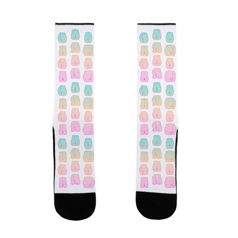 Kawaii Pastel Butt Pattern Sock