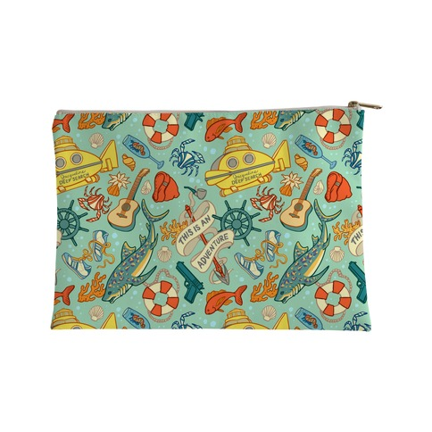 Life Aquatic Nautical Pattern Accessory Bag
