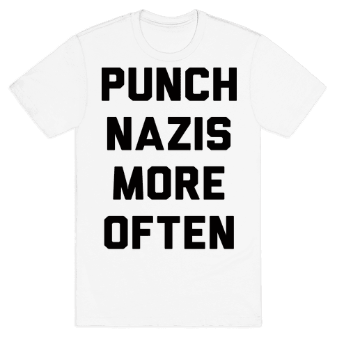 Punch Nazis More Often Mens T-Shirt