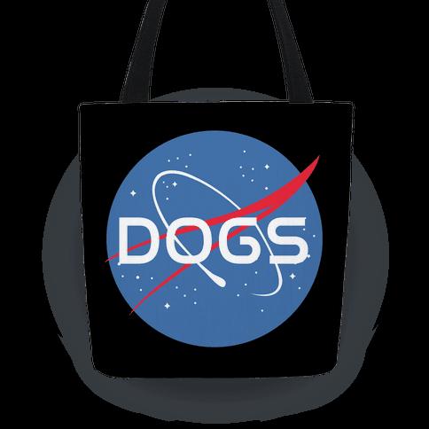 Dogs Nasa Parody Tote