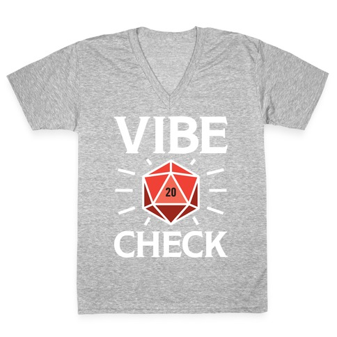 Vibe Check D20 V-Neck Tee Shirt