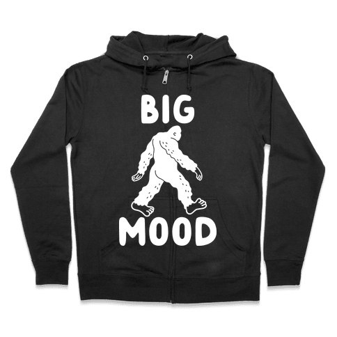 Big Mood Bigfoot Zip Hoodie