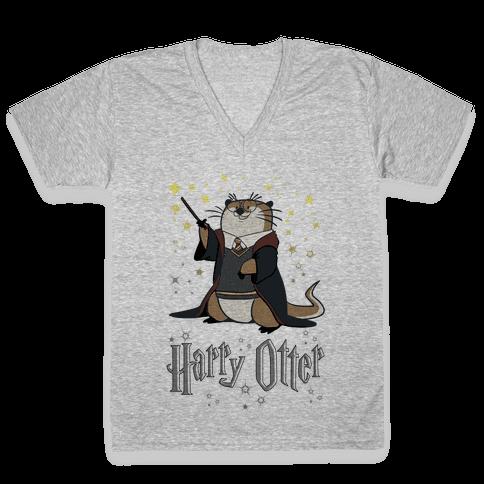 Harry Otter V-Neck Tee Shirt