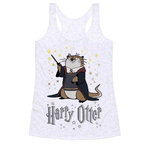 Harry Otter Racerback Tank Top