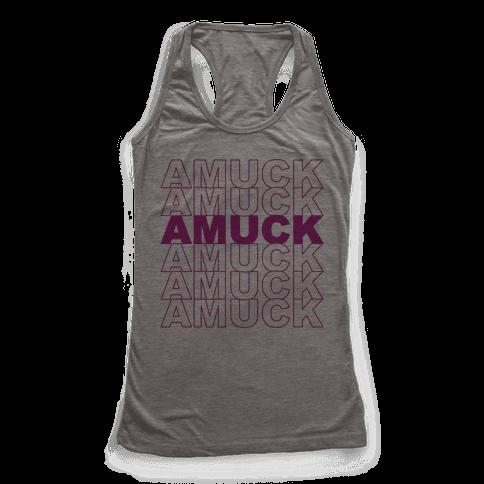 Amuck Amuck Amuck Thank You Hocus Pocus Parody Racerback Tank Top