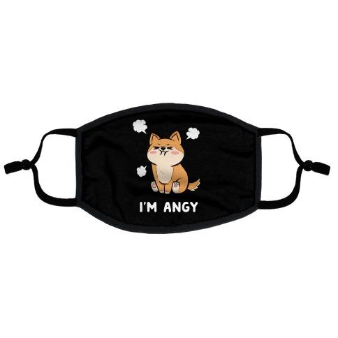 I'm Angy Shiba Inu Flat Face Mask