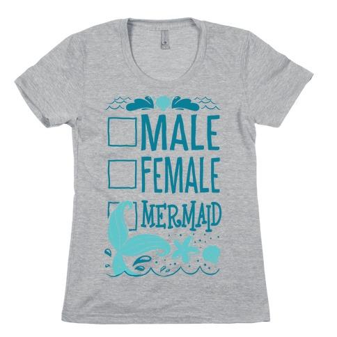 Male, Female, Mermaid Womens T-Shirt