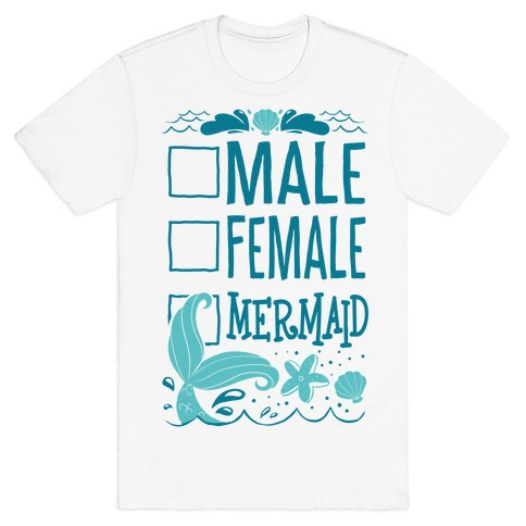 Male, Female, Mermaid T-Shirt