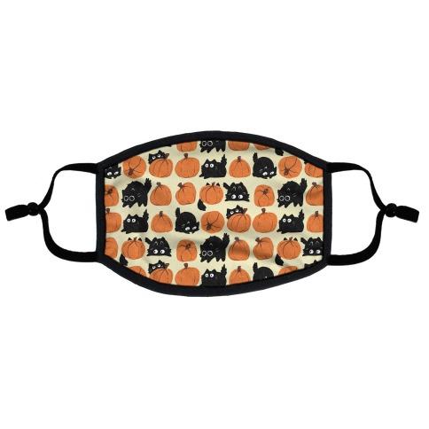 Pumpkin Cats Flat Face Mask