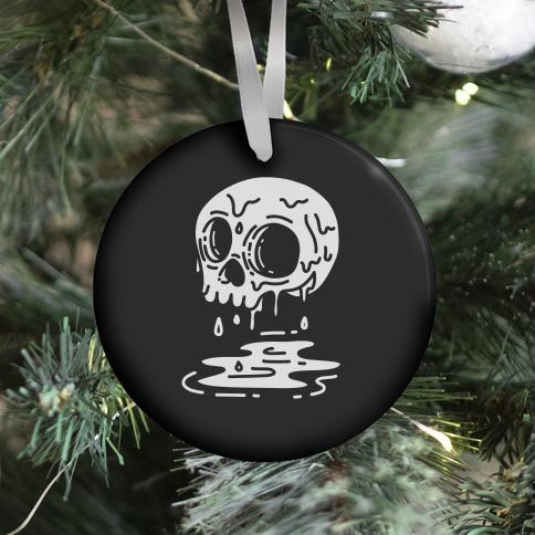 Melting Skull Ornament