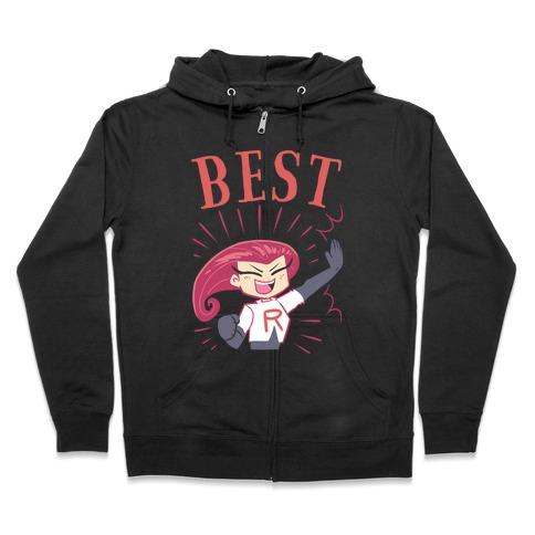 Best Friends Team Rocket Jessie Zip Hoodie