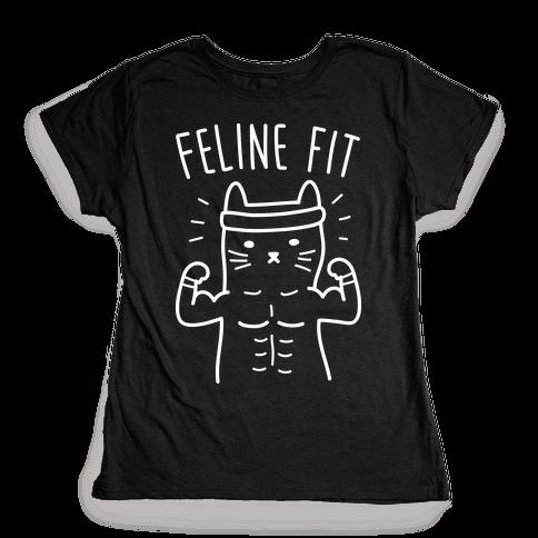 Feline Fit (White) Womens T-Shirt
