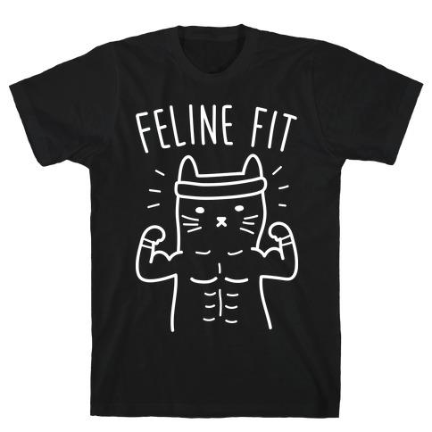 Feline Fit (White) Mens/Unisex T-Shirt