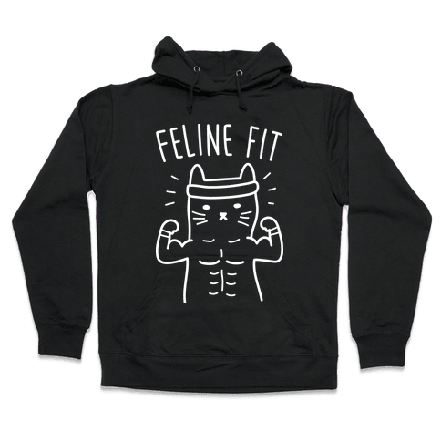 Feline Fit (White) Hooded Sweatshirt