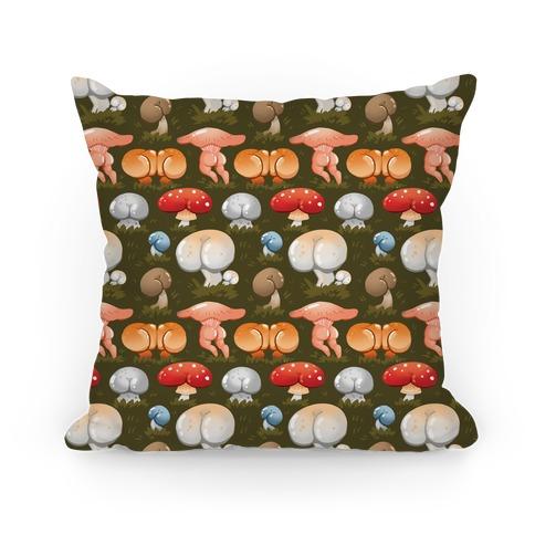 Butt Mushroom Pattern Pillow
