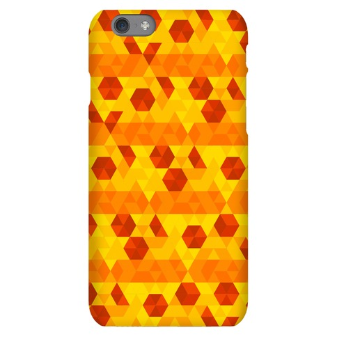 Geometric Pizza Tessellation Phone Case
