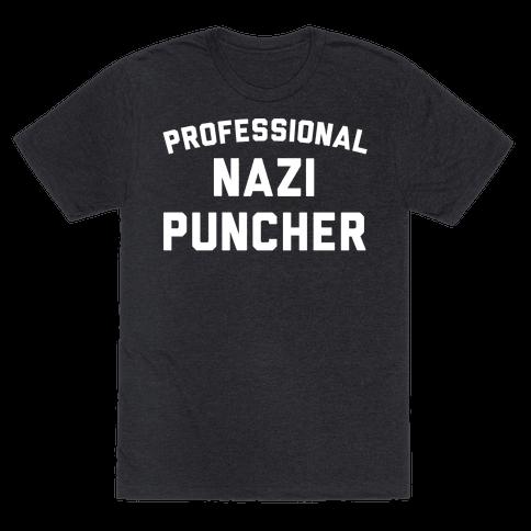 Professional Nazi Puncher White Print