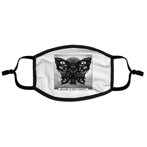 Welcome To Point Pleasant Mothman Manga Flat Face Mask