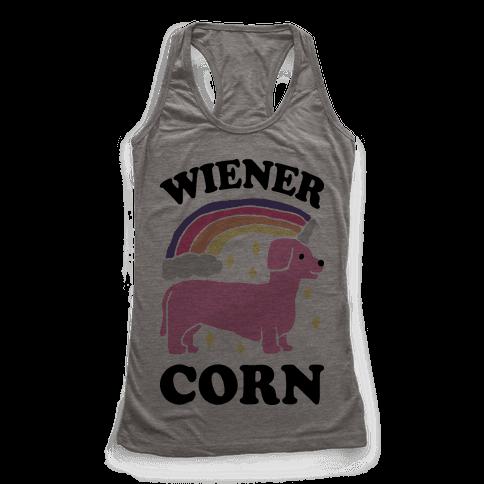 Wienercorn Dachshund Unicorn Racerback Tank Top