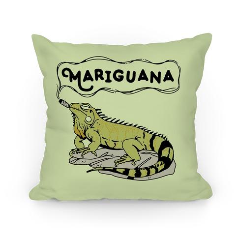 Mariguana Marijuana Iguana Pillow