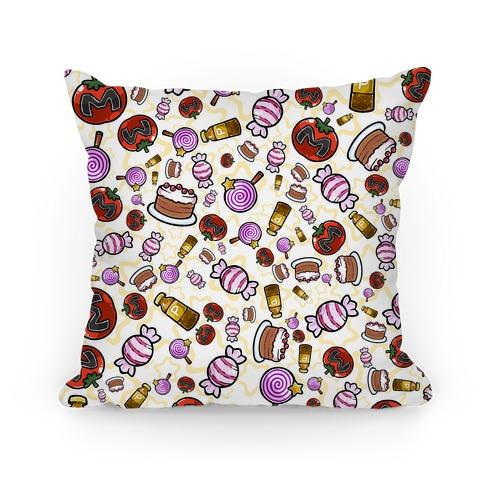 Kirby Munchies Pattern Pillow
