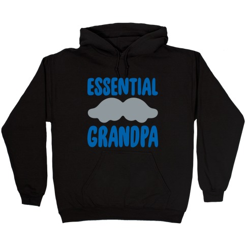 Essential Grandpa White Print Hooded Sweatshirt