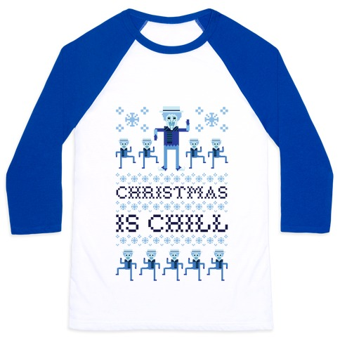 Christmas Is Chill Snow Miser Baseball Tee