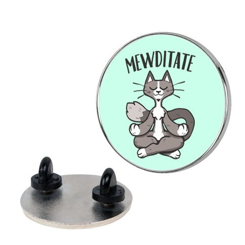 Mewditate Pin
