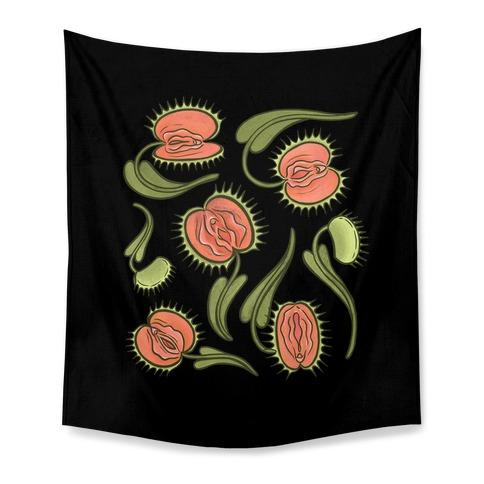 Venus Flytrap Vulvas Tapestry